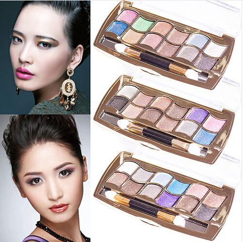 Nuovo arriva vendita calda 12 colori diamante brillante colorato ombretto tavolozza super flash glitter trucco