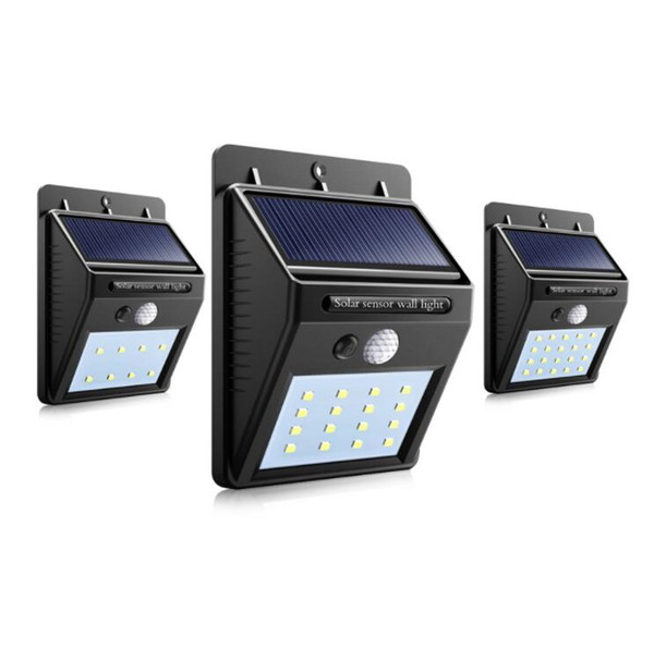 8/16/20leds Solar Panel Powered LED PIR Motion Sensor Lamp Night Light Waterproof Outdoor Garden Wall Street Security Lights