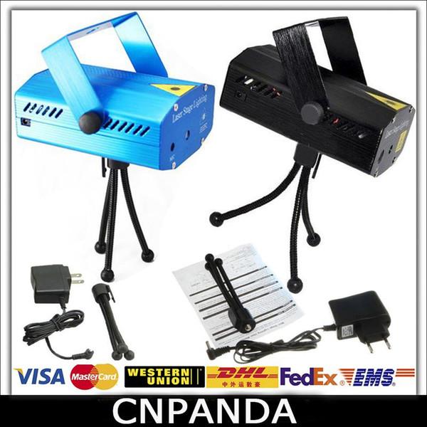 Urlaub Verkauf Blau Mini Laser Bühnenbeleuchtung 150mW Mini GreenRed LED Laser DJ Party Bühnenlicht Schwarz Disco Dance Floor Lights