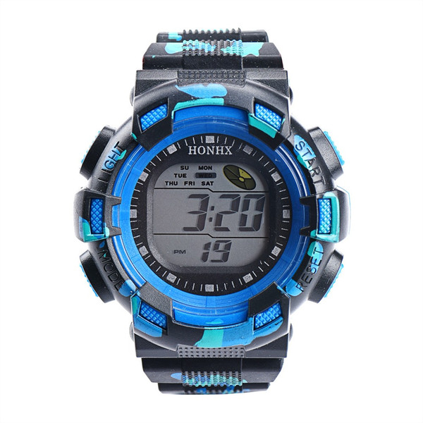 OTOKY Unisex Watches Men Fashion LED Digital Alarm Date Rubber Army Watch Waterproof Sport Wristwatch Clock Kids Gift BY31