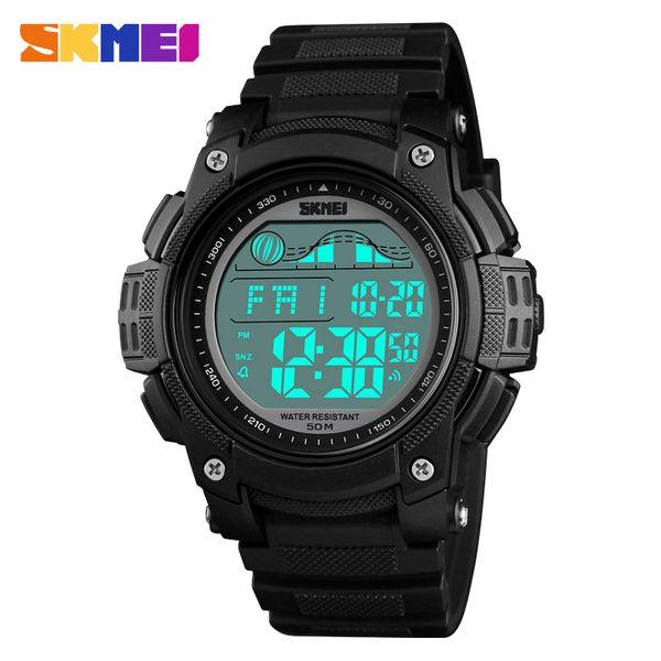 SKMEI Men Watch Sports Outdoor Waterproof Digital Wristwatch Chrono Double Time LED Display Watch Alarm Clock Relogio Masculino