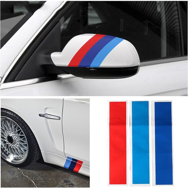 Car-styling Sport Stripe 3 Colors Auto Sticker for BMW M3 M5 E46 Durable Reflective Sports Sticker OOA4977