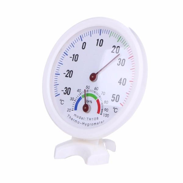 Termómetro digital higrómetro Mini LCD Medición de temperatura Escala de puntero en forma de campana con un soporte para la oficina en el hogar
