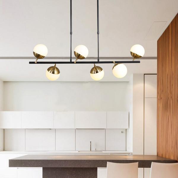 Nordic Minimalist Glass Ball pendant lamp Loft Molecule Chandeliers Warm Bedroom Designer Kitchen Coffee Shop Led Hanging Light Fixtures