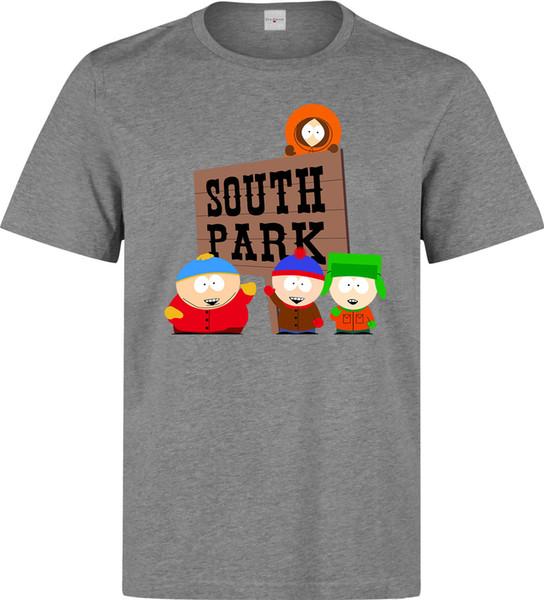 71e43f0f South Park Sign Logo Cartman Stan Kyle Kenny men (woman available) grey t  shirt
