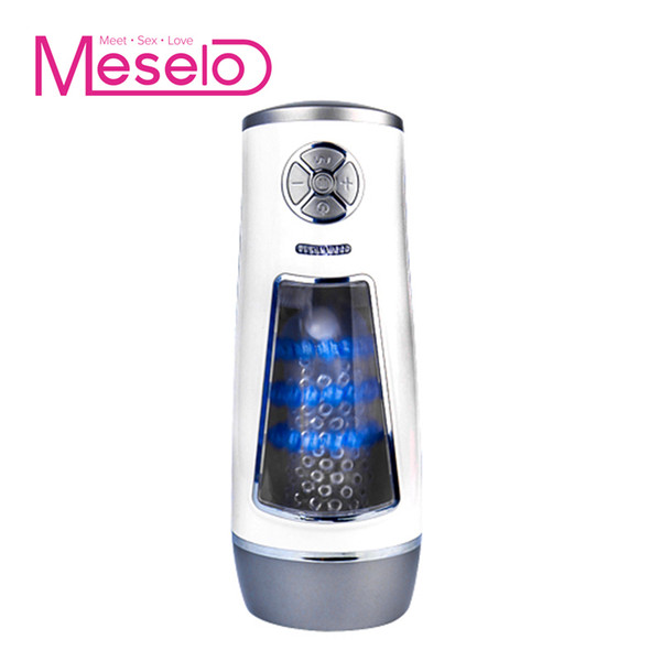 Meselo New Luxury Automatic Masturbator Male Hands-free Powerful High Speed Masturbation Cup Multiple Vibration Sex Toys For Men Y1892903