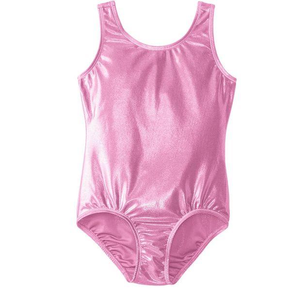 Pink Ärmelloser Body Glänzend Elasthan Tanzbekleidung Super Hero Body