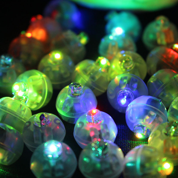 100pcs /Lot Color Round Mini Led Rgb Flash Ball Lamp Lantern Balloon Lights For New Year Deco Christmas Wedding Party Decoration