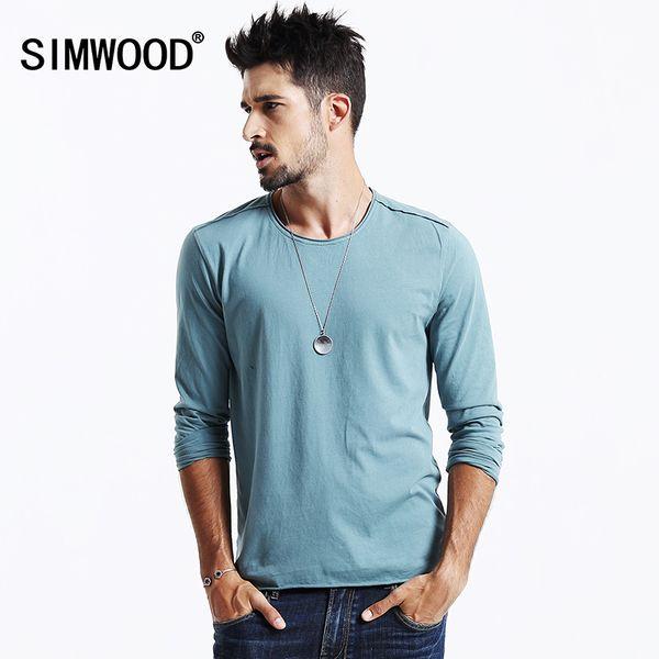 Neue Ankunft Herbst Langarm T-shirt Männer Kausalen Mode Junge 100% Baumwolle T Shirts Tops Tees Plus Größe Tl3505