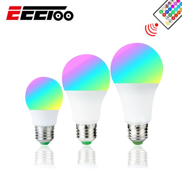E27 RGB RGBW RGBWW LED Bulb 5W 10W 15W Color Changeable Light Dimmable Led Lamp With IR Remote Control Home Decor Night Lights