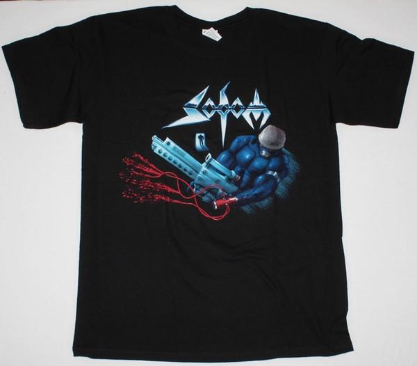 T-Shirt di Sodom Tapping The Vein German Kreator Metal New Black T Shirt Hot New 2018 Summer Fashion Magliette