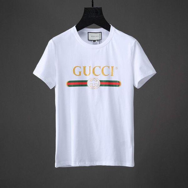 2018 Primavera Verano Moda Polo Marca de diseñador para hombre Camiseta bordada Tiger Wolf Camiseta de manga corta Camiseta para jóvenes de los hombres