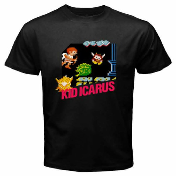 Fashion Round Collar T Shirt Casual Kid Icarus O-Neck Short Sleeve Mens Tee Shirts