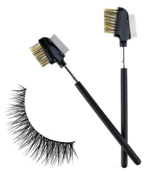 in stock! 27 Stainless Steel Needle Eyelash Eyebrow Makeup Brushes Comb Black Makeup Mascara Guide Applicator Cosmetic Makeup Tool
