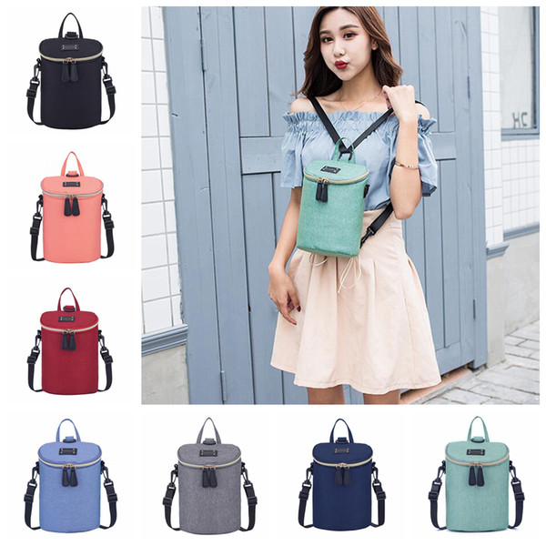 Baby Diaper Backpack 7 Colors Waterproof Bottle Heat Preservation Insulation Maternity Nappy Bag Outdoor Mommy Storage Bags 50pcs OOA5768