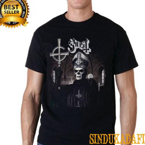 GHOST BC Papa Emeritus Rock Band Black Short Black T-shirt size S M L XL 2XL summer Hot Sale New Tee Print comfortable fabric