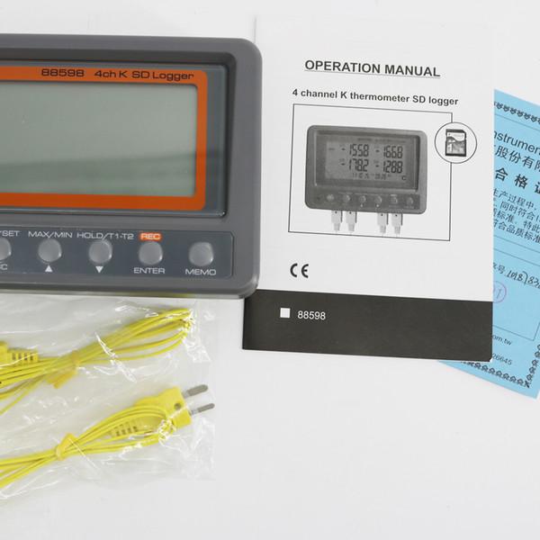 AZ88598 Thermocouple de type k à 4 canaux à utiliser à la fois Enregistreur de température de l'enregistreur