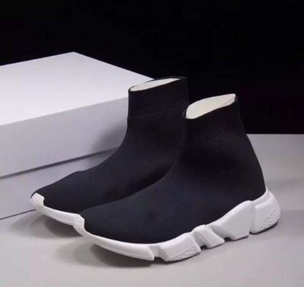 Beste Qualität Geschwindigkeit Trainer Stiefel Socken Stretch Knit High Top Trainer Schuhe Billig Sneaker Schwarz Weiß Frau Mann Paare Schuhe Casual Stiefel