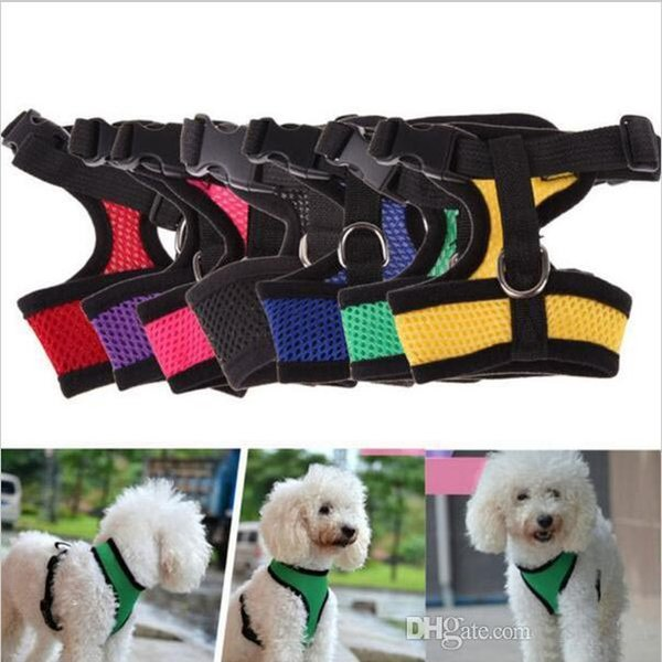 Breathable Mesh Small Dog Pet Safety Harness Easy Control Mesh Vest Leash Chest Straps Belt c293