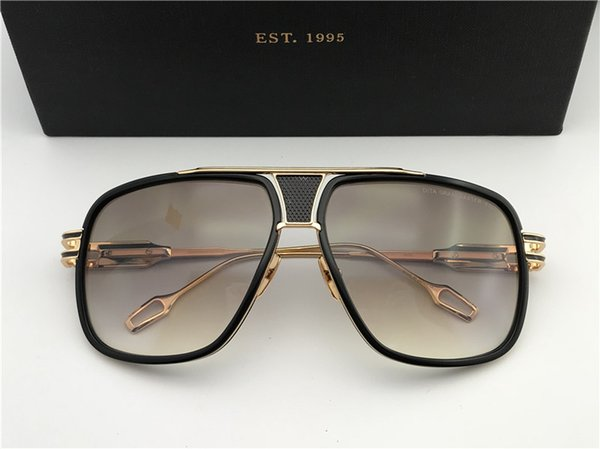 Men/Woman Designer Oversized Square Sunglasses Gunmetal Frame gafas de sol Designer Sunglasses vintage glasses New with Box numd180721-17