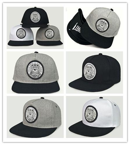 Top Sale Classic 5 panels cotton snapback 3d god eyes plastic patch mens flat brim baseball cap hip hop hat and cap for men and women