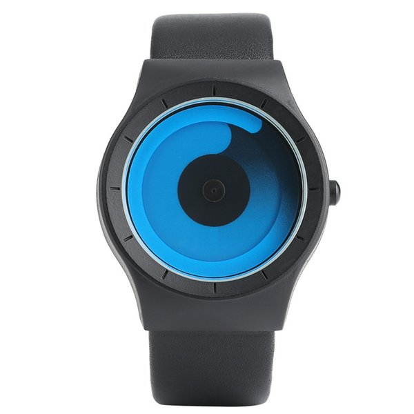 Fashion PAIDU Watch Minimalist Style Color Spiral Turntable Novel Stylish Wristwatch Geek Fans Gift Male Female ClockMen Women
