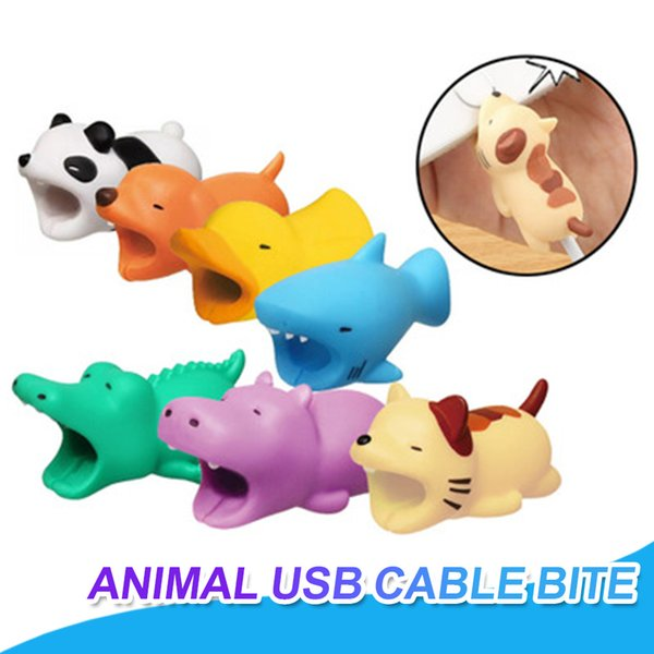 Cable Bite Charger Cable Protector Savor Cover For iPhone Lightning Cute Animal Design Charging Cord Protector Animal Phone Accessory