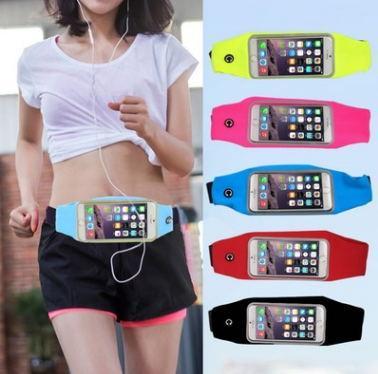 Unuversal водонепроницаемый для iphone 6 7 8 / плюс дюймовый спортивный пояс сумка чехол эластичный пояс карман для iphone 8 X