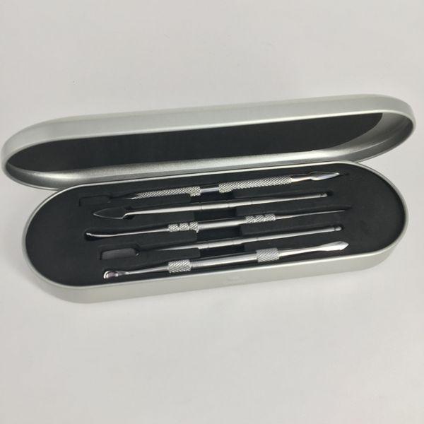106-127mm dab tool kit Wax dabber tool set Aluminium box packaging vax atomizer titanium nail dabber tool For dry herb vaporizer pen