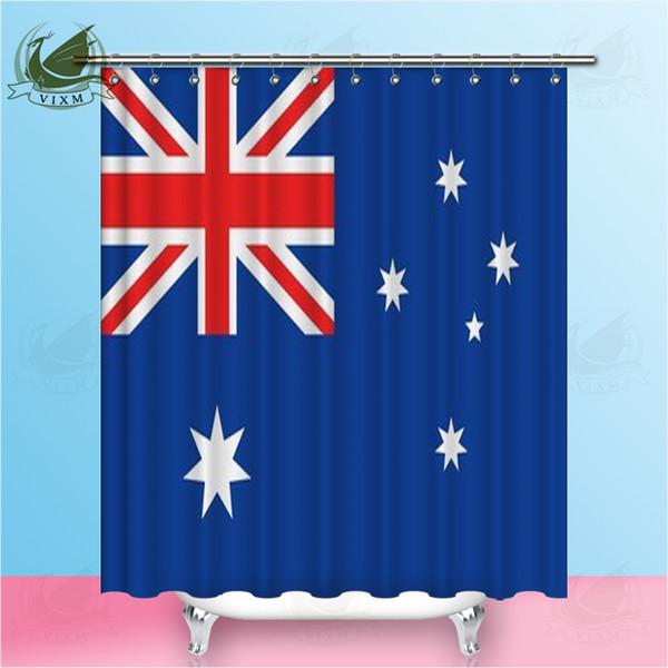 Vixm Флаг Австралии На Ветру С Текстурой Занавески Для Душа Полиэстер Ткань Шторы Для Домашнего Декора