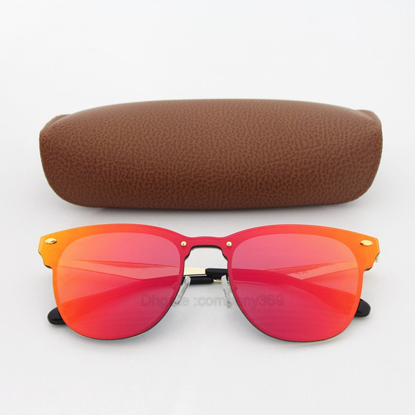 1 stücke Top qualität Sonnenbrille für Frauen Mode Vassl Marke Designer Gold Metallrahmen Rot Bunte sonnenbrille Brillen Come Brown Box
