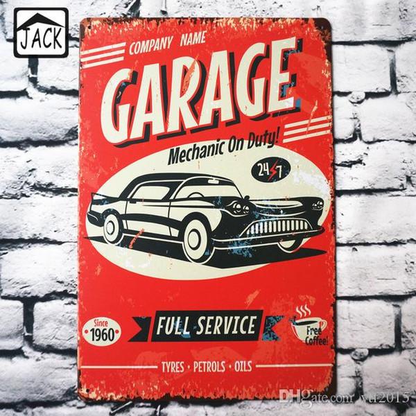 Garage Full Service 24/7 8X12 inch Metal Tin Sign Garage Barn Gallery Coffee Store Club Bar Pub Wall Decor Tin Plaque Plate