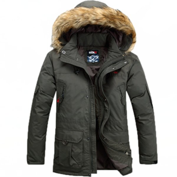 ÜST erkek aşağı ceket Açık termal yepyeni otantik kişinin ahlak erkek kukuleta ile uzun ceket ceket palto daha fazla getirdi