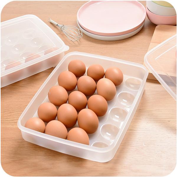 20 Gitter 22,5 * 29,5 * 6 cm Eierkartons Küche Kühlschrank Crisper Box Tragbare Aufbewahrungsbox Kunststoff Picknick Eierkartons