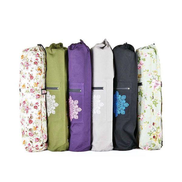 Pilates & Yoga 100% Canvas Mat Bag Yoga Mat Bag With Cargo Pocket