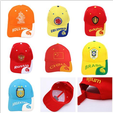 c092ef6b966 2019 2018 Russia World Cup Embroidery Football Cap Snapback Cotton ...