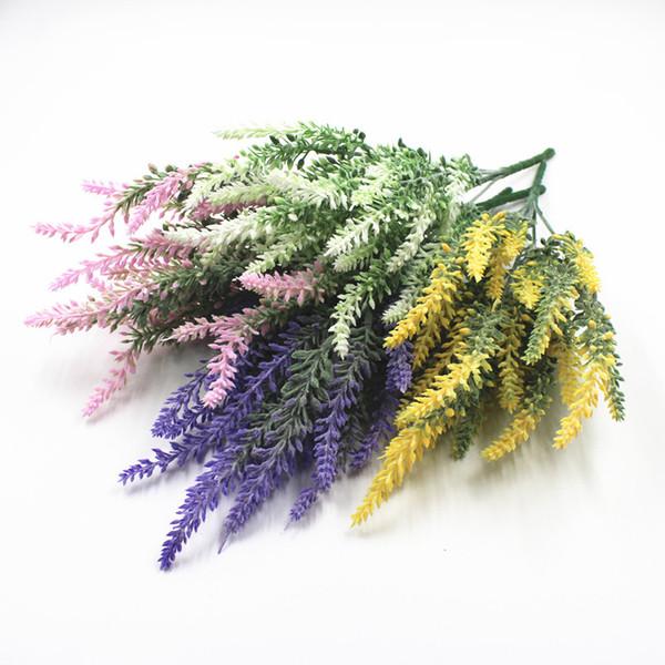 10 PCS Romântico Provence decoração lavanda flor de seda artificial flores de grãos decorativos Simulação de plantas aquáticas