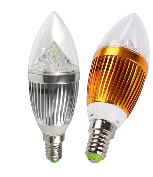 LED-Kerzelicht E14 9W 12W nicht dimmbare 110V-220V LED Birnen-Lampe kühle weißen / warme Weiß LED-Strahler lightig Silber / Gold