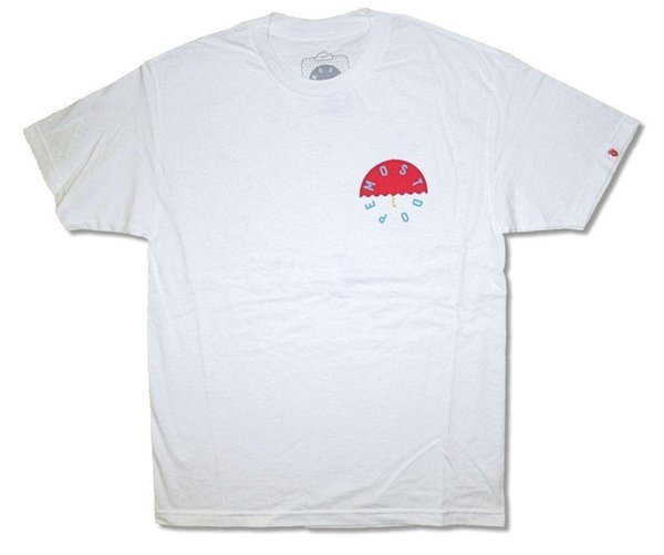 Red Umbrella on White T Shirt New Official Most Hip Hop HOT SELL 2018 New Fashion Brand Men tees Solid Color short Sleeve