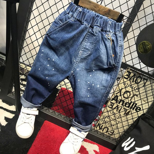 Children Broken Hole Pants Trousers 2018 Baby Boys Girls Jeans Brand Fashion Autumn Kids Trousers Children Clothing 2-6Y (C32003