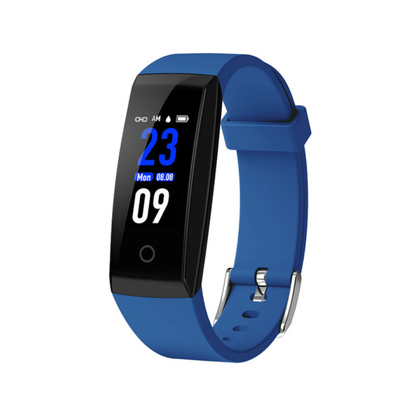OTA Automatic Heart Rate Monitor Smart Bracelet Pedometer Tracker Smart Watches Color Screen Smartwatch For iPhone Android Smart Phone Watch
