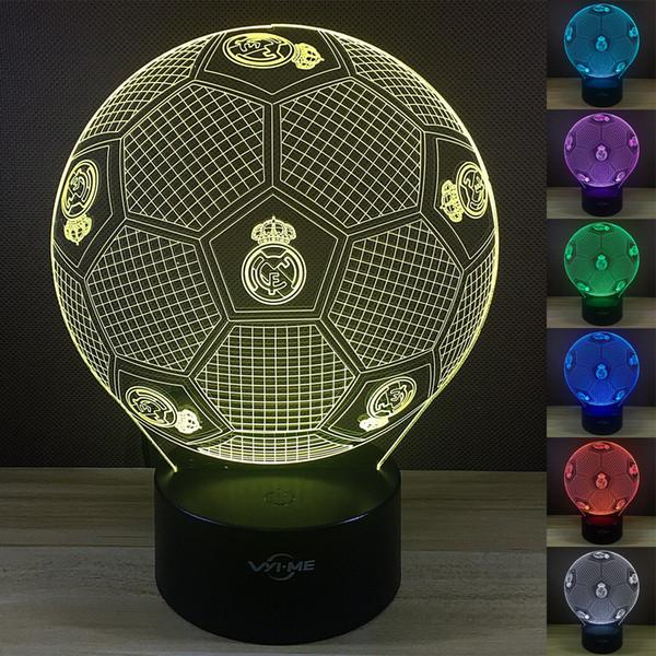2018 3d Led Acryl Bunte Soccer Football Fussball Nachtlampe Nachtlicht Lampe Neu R42 From Aesto 21 69 Dhgate Com