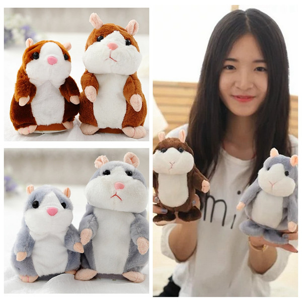 top popular Talking Hamster Plush Toys Electric Walking Hamsters Toy Speak Sound Record Hamster Kids Cute Dolls Baby Birthday Christmas Plush Doll LD31 2020
