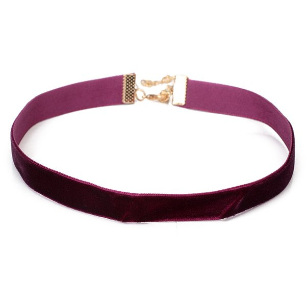 2017 New Wine Red Velvet Choker Necklace Women Chokers Necklaces Lace Chocker collares mujer Collier ras de cou