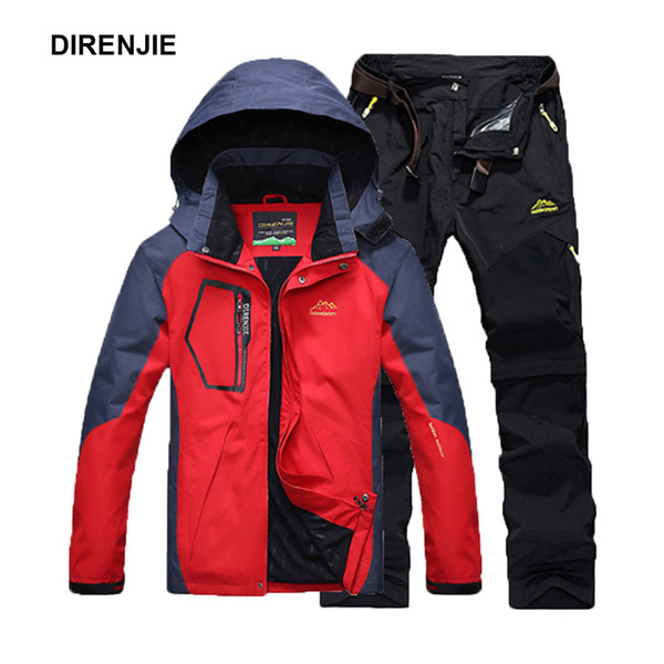 DIRENJIE Men Summer Fishing Hiking Camping Climbing Trekking Outdoor Travel Quick Dry Jackets Trousers Suit Pant Plus Size 5XL Y1893006