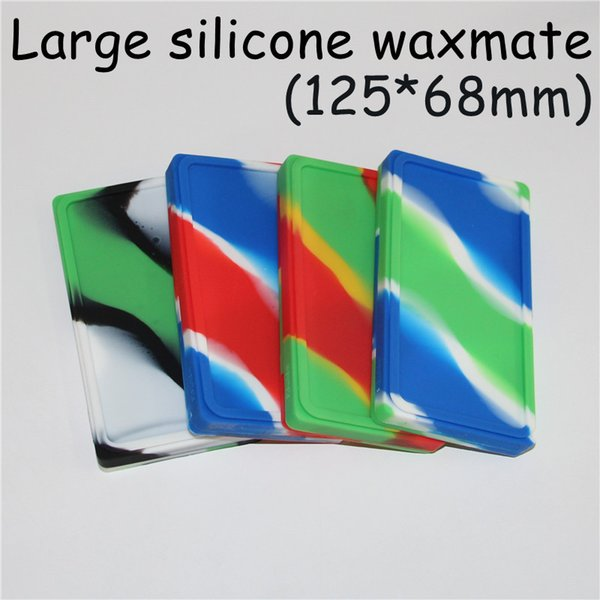 10pcs large Waxmate Containers Silicone Rubber Silicon Storage Square Shape Wax Jars Dab Tool Dabber Oil Holder for Vaporizer Dry Herb DHL