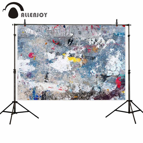 wholesale professional photography background Vintage colorful art paint wall backdrop photo studio birthday wedding photocall