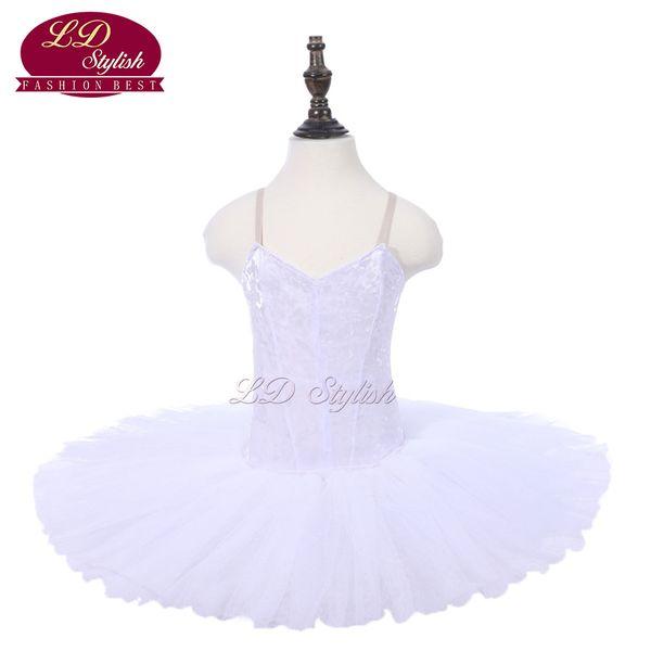 Neueste Mädchen Weiß Ballett Tutu Apperal Kinder Bühne
