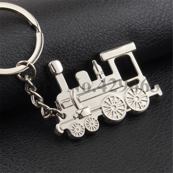 100 pieces Steam Engine Key Chain for Lovers Metal Train Head Keyring Individual Keychains Gifts Locomotive Car Key Ring Holder