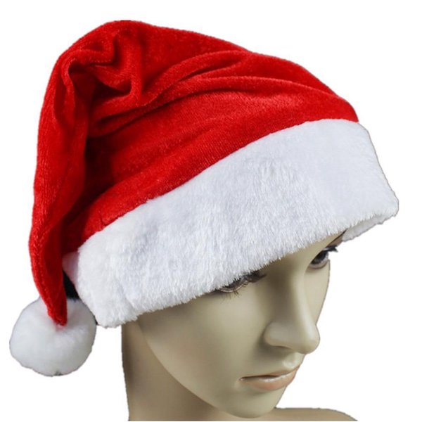 Santa Christmas Hat Claus Xmas Cap Kids Party Costume Adult Child Caps Adults Unisex Festival Cosplay Party Props